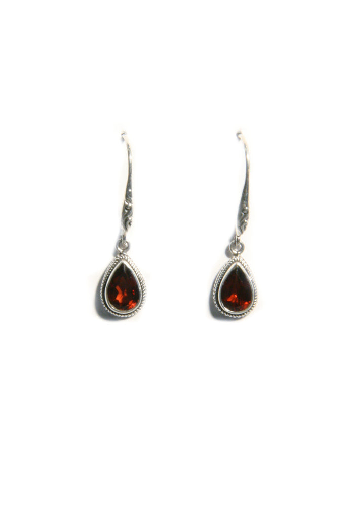Stone Drop Dangles Earrings | Garnet | Light Years Jewelry