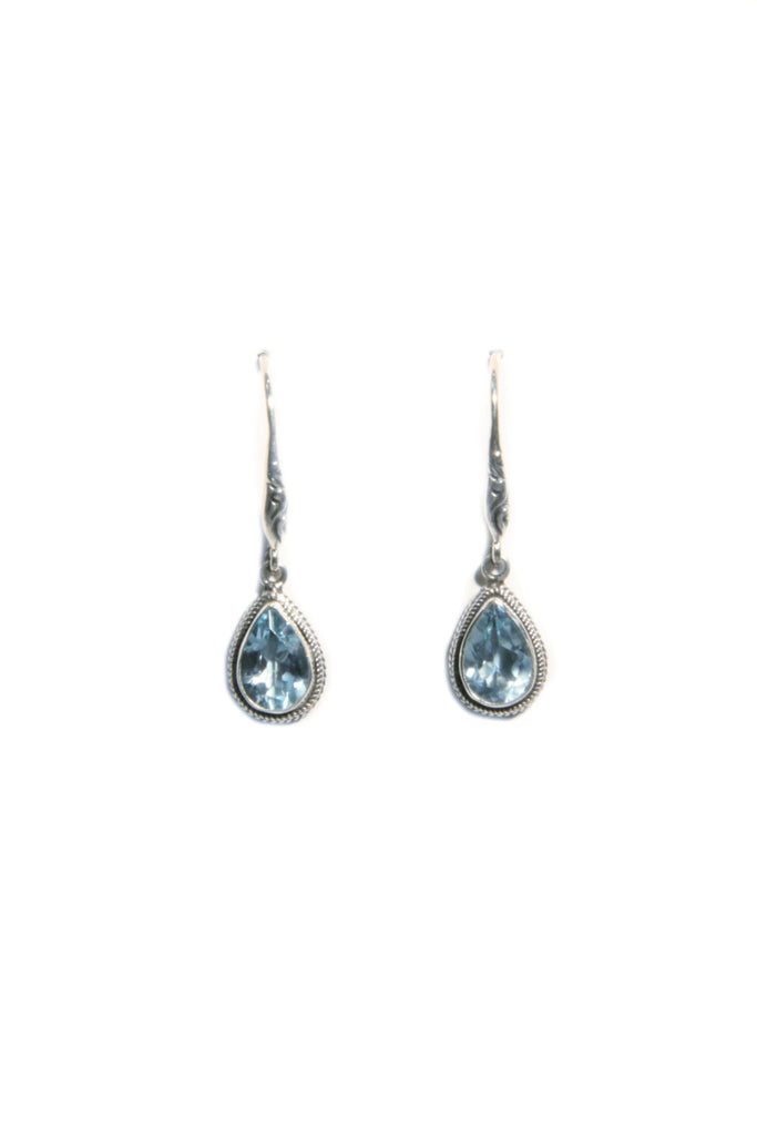 Stone Drop Dangles Earrings | Blue Topaz | Light Years Jewelry