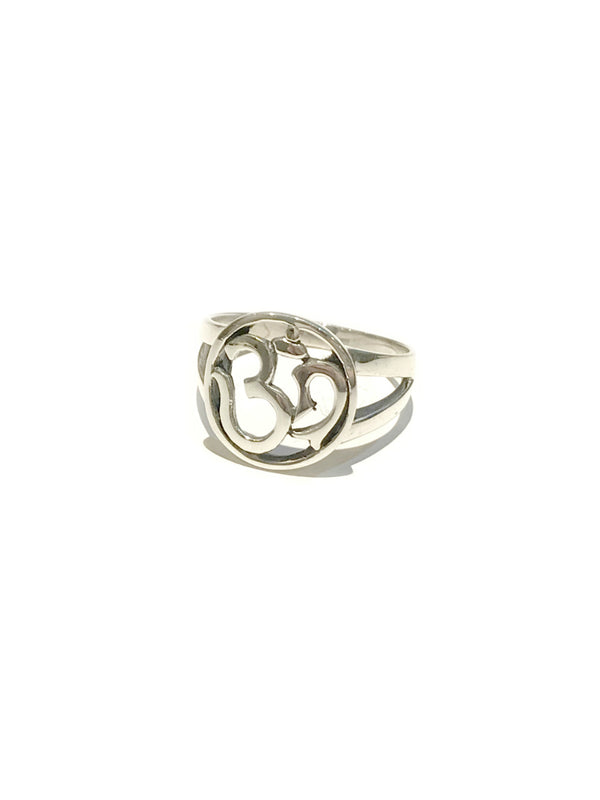 Handmade Om Ring | Size 7 8 9 Sterling Silver | Light Years Jewelry