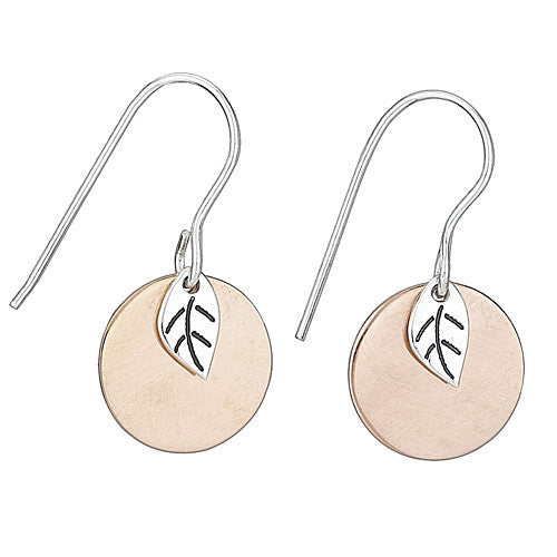 Copper Disc Dangles, $24 | Sterling Silver | Light Years Jewelry