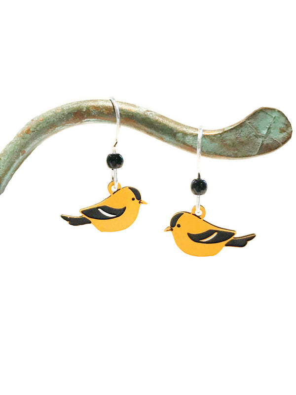 American Goldfinch Dangles by Sienna Sky | Sterling Silver | Light Years
