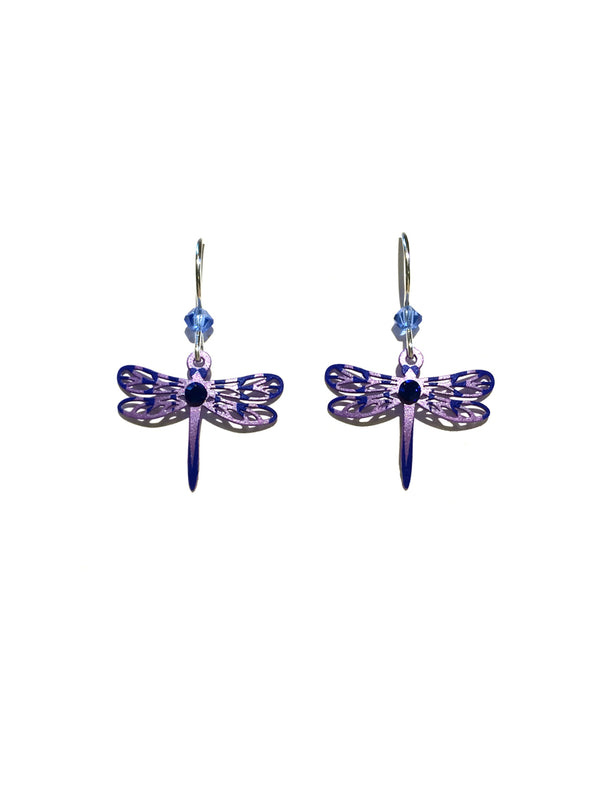 Purple Dragonfly Earrings by Sienna Sky | Sterling Silver | Light Years