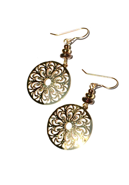 Gold Medallion Dangles by Adajio | Gold Filled USA Made | Light Years