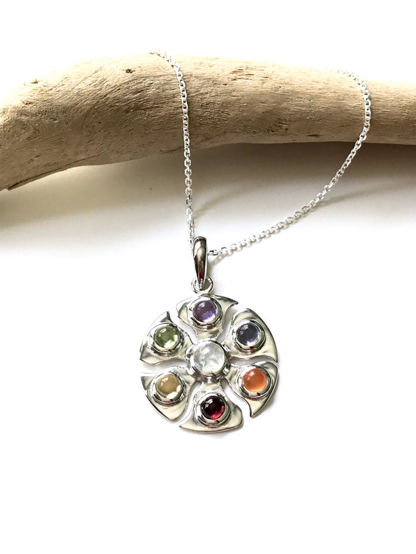 Chakra Gemstone Pendant Necklace | Sterling Silver | Light Years Jewelry