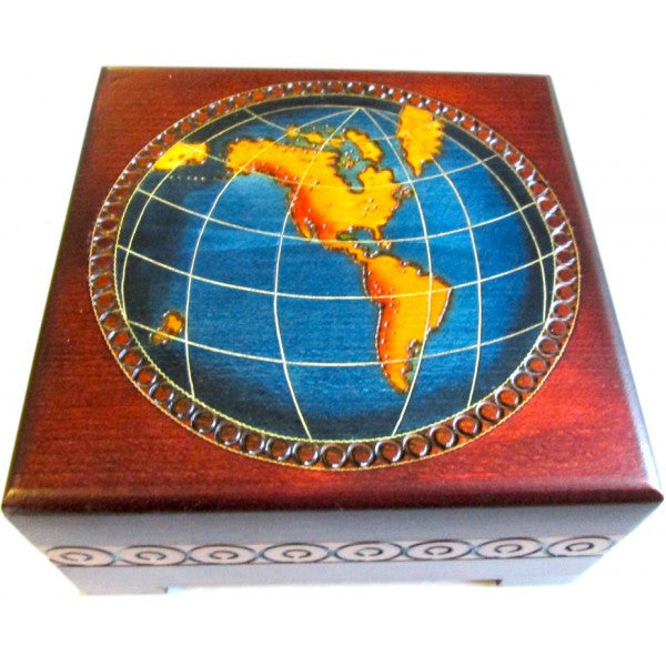 World Map Chest, $30 | Polish Handcrafted Box | Light Years Jewelry