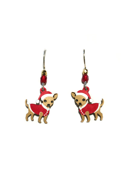 Holiday Chihuahua Earrings Sienna Sky | Sterling Silver | Light Years
