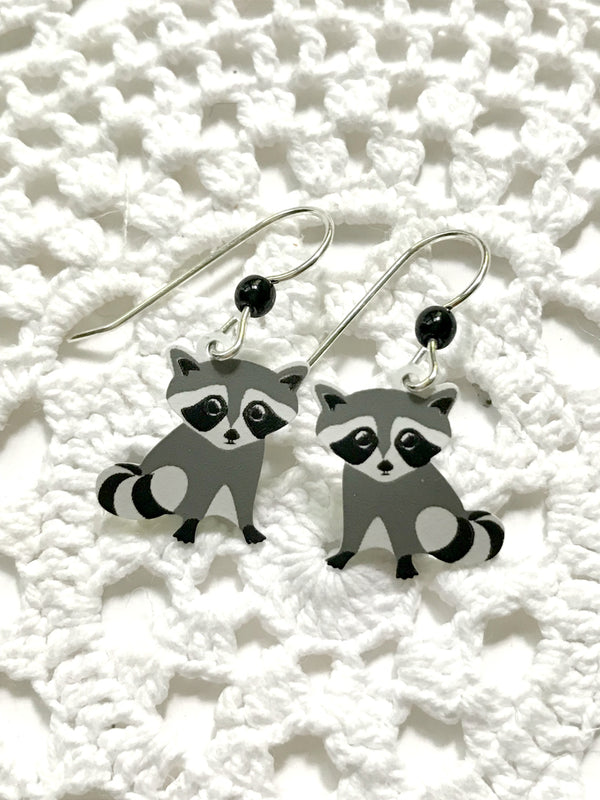 Raccoon Dangles by Sienna Sky | Sterling Silver Earrings | Light Years