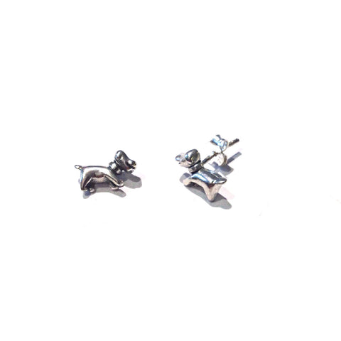 Puppy Dog Post Earrings, $10 | Sterling Silver Stud Earrings | Light Years