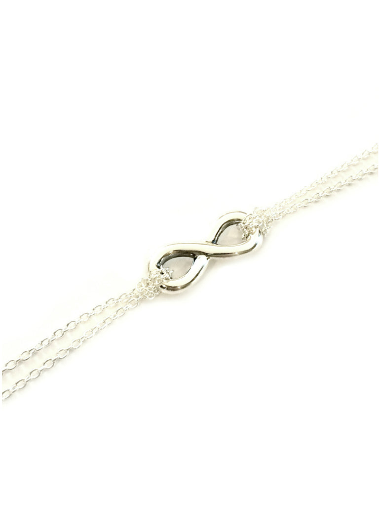 Infinity Symbol Bracelet | Sterling Silver Chain Link | Light Years