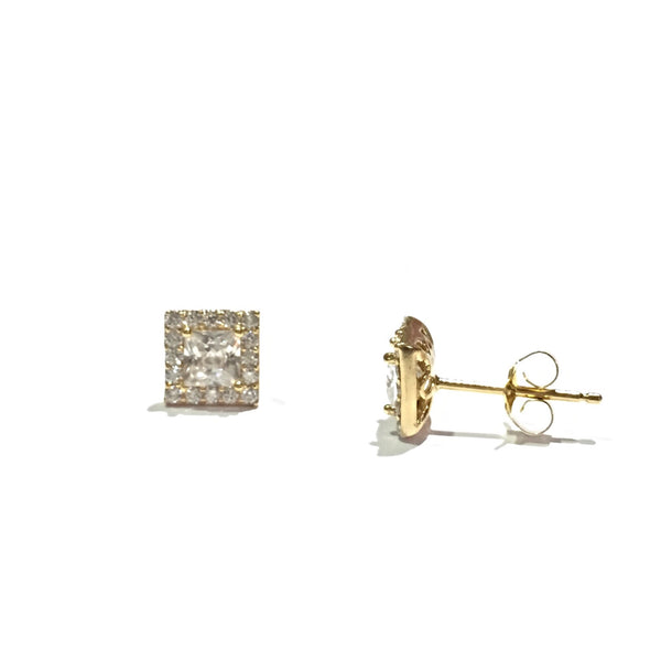 CZ Square Posts | Sterling Silver Gold Vermeil | Light Years Jewelry