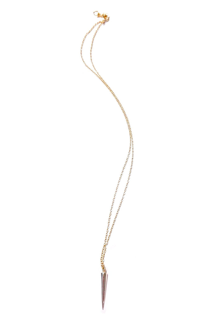 Spike Pendant Necklace, $18 | Gold Vermeil | Light Years Jewelry