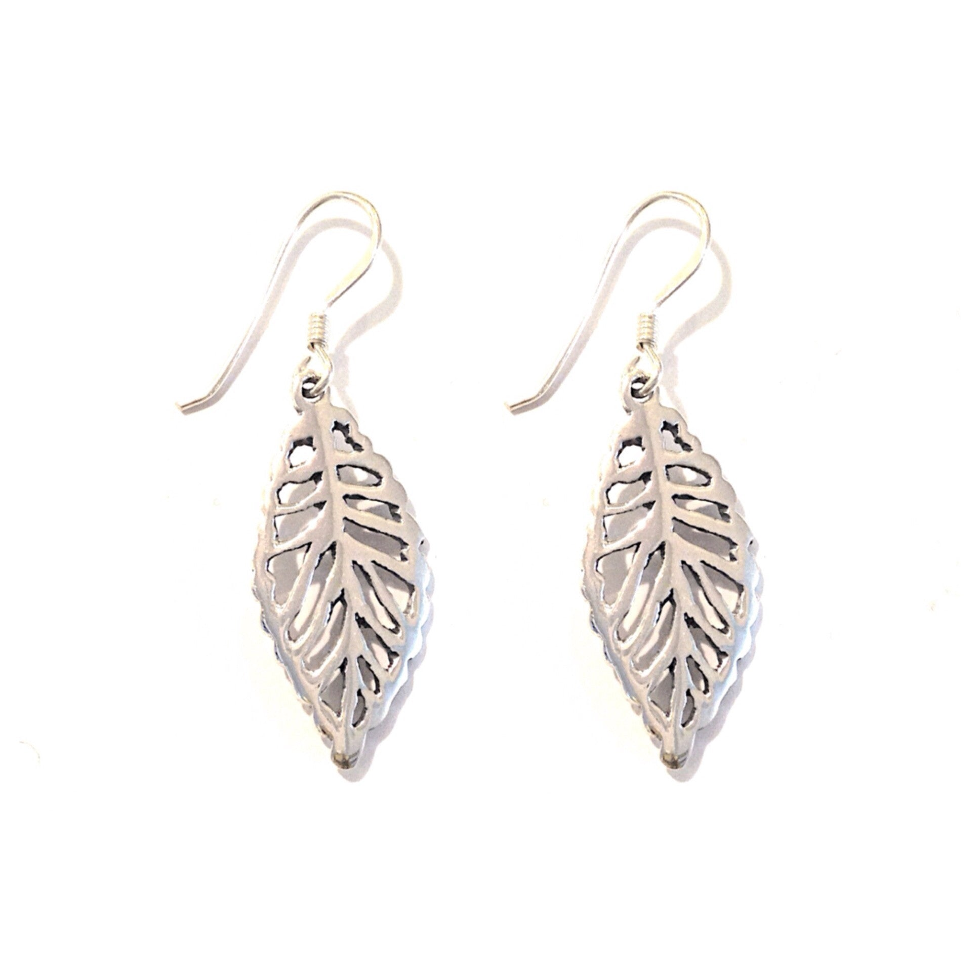 Silver Leaves Earrings, $14 | Sterling Silver | Light Years Jewelry
