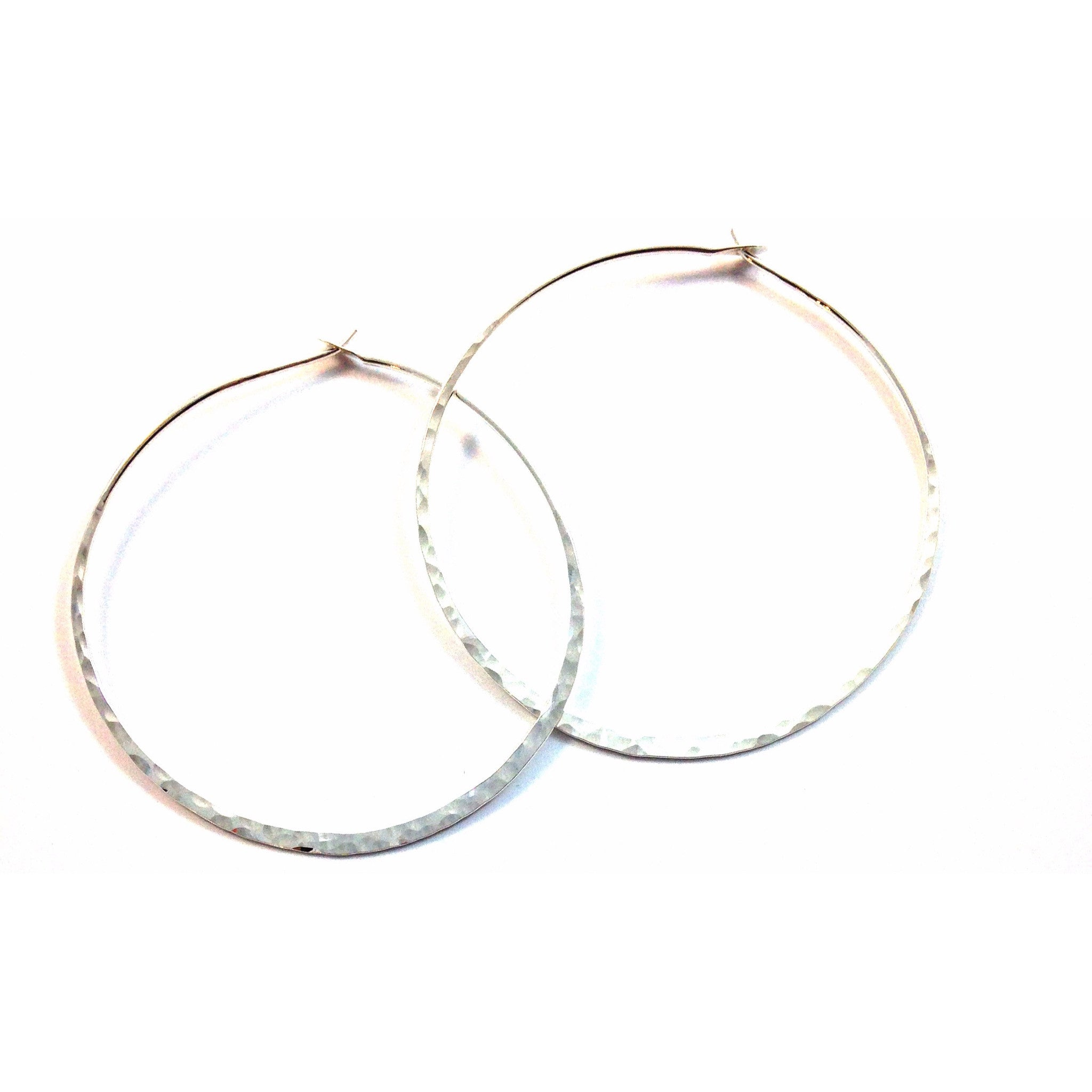 Silver Hammered Hoops, $10-$32 | Sterling Silver Earrings | Light Years Jewelry