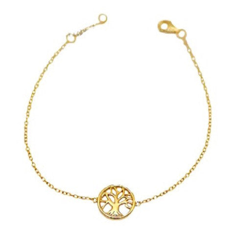 Tree of Life Chain Bracelet, $15 | Gold Vermeil | Light Years Jewelry