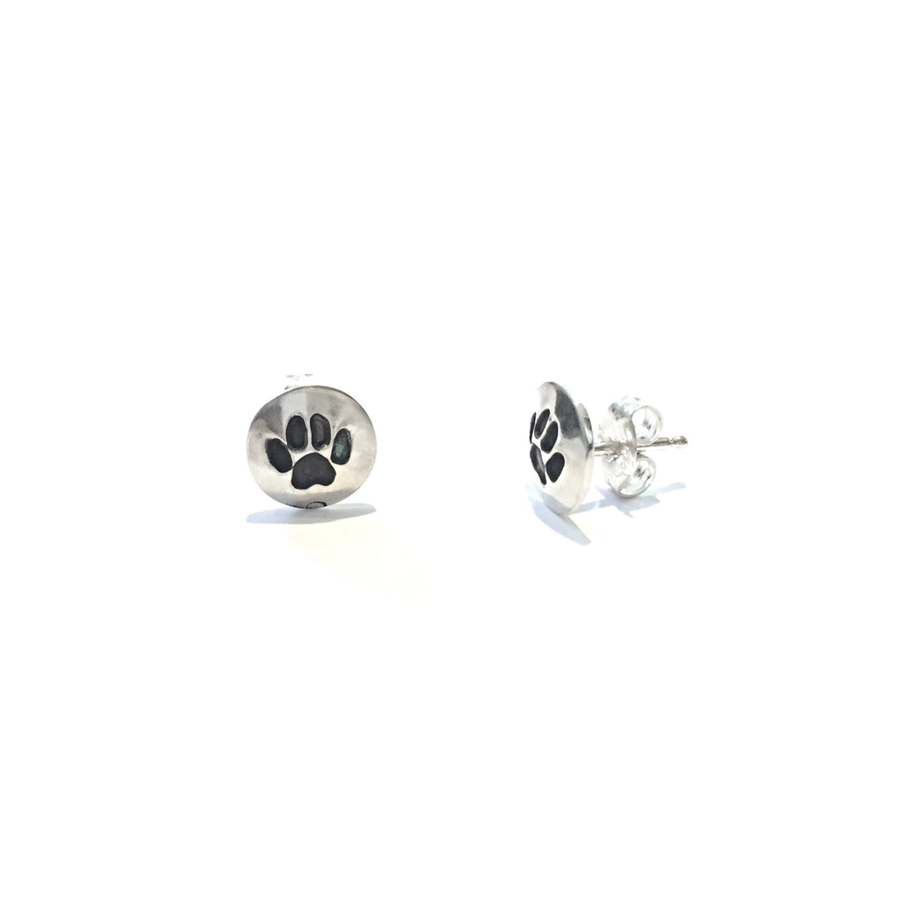 Paw Print Posts, $17 | Sterling Silver Stud Earrings | Light Years Jewelry