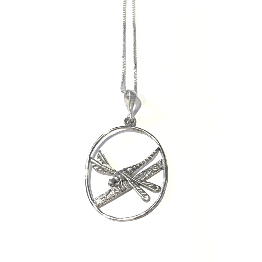 Dragonfly on a Branch Necklace, $27 | Sterling Silver | LIght Years Jewelry