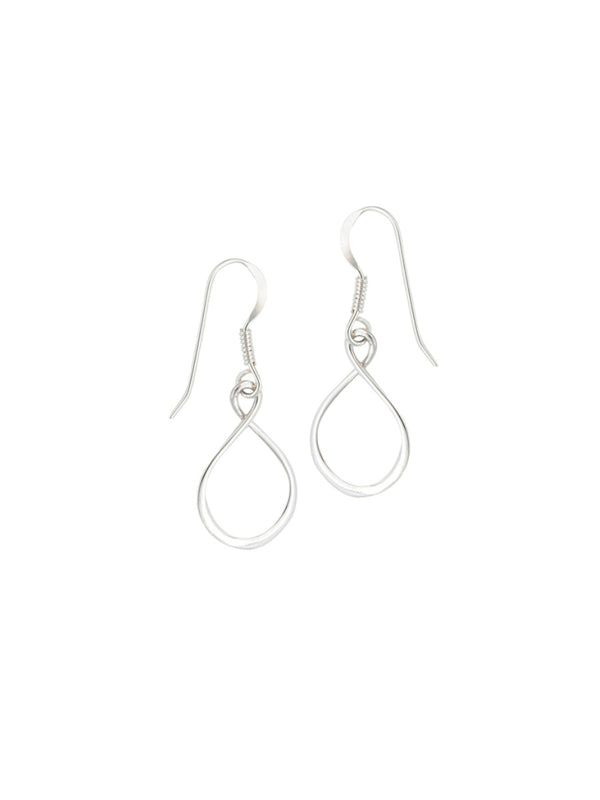 Infinity Twist Earrings | Sterling Silver Dangles | Light Years Jewelry