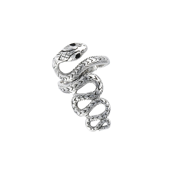 Winding Snake Statement Ring | Sterling Silver Size 7 8 9 10 11 | Light Years
