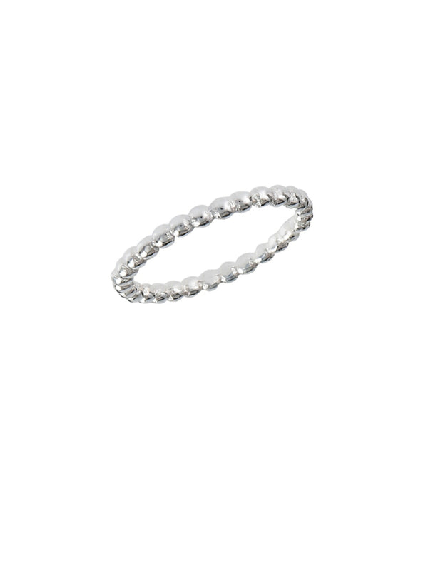 Ball Bead Band | Sterling Silver Ring Sizes 3 4 5 6 7 8 | Light Years