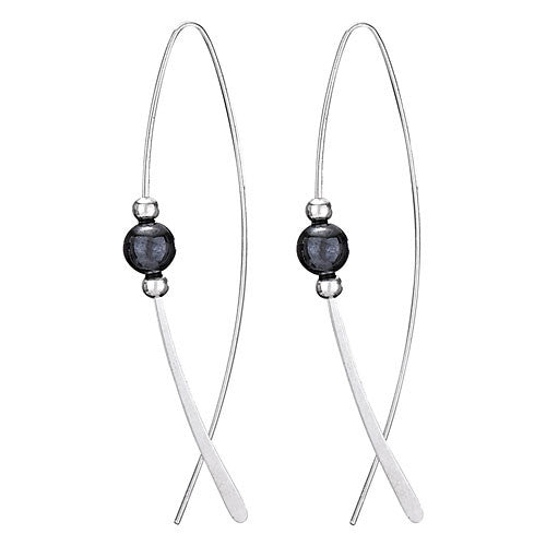 Hematite Marquis Dangles, $20 | Sterling Silver | Light Years Jewelry