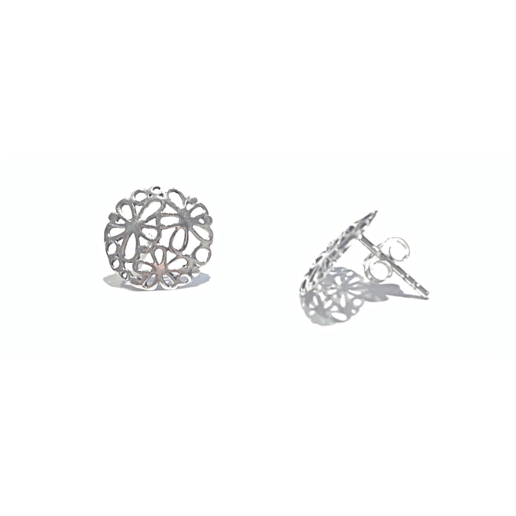 Open Flowers Posts, $10 | Sterling Silver Stud Earrings | Light Years Jewelry