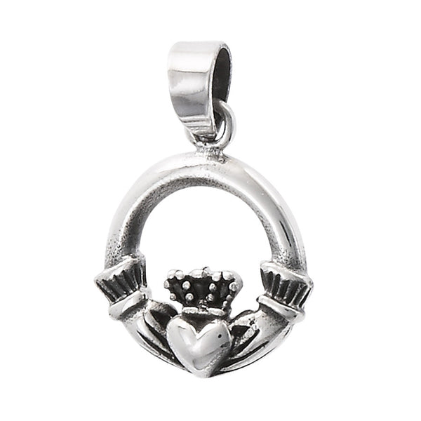 Claddagh Pendant Necklace | Sterling Silver Chain | Light Years Jewelry