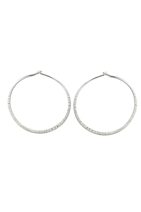 Handmade Etched Hoops, $24 | Sterling Silver Gold Filled | Light Years