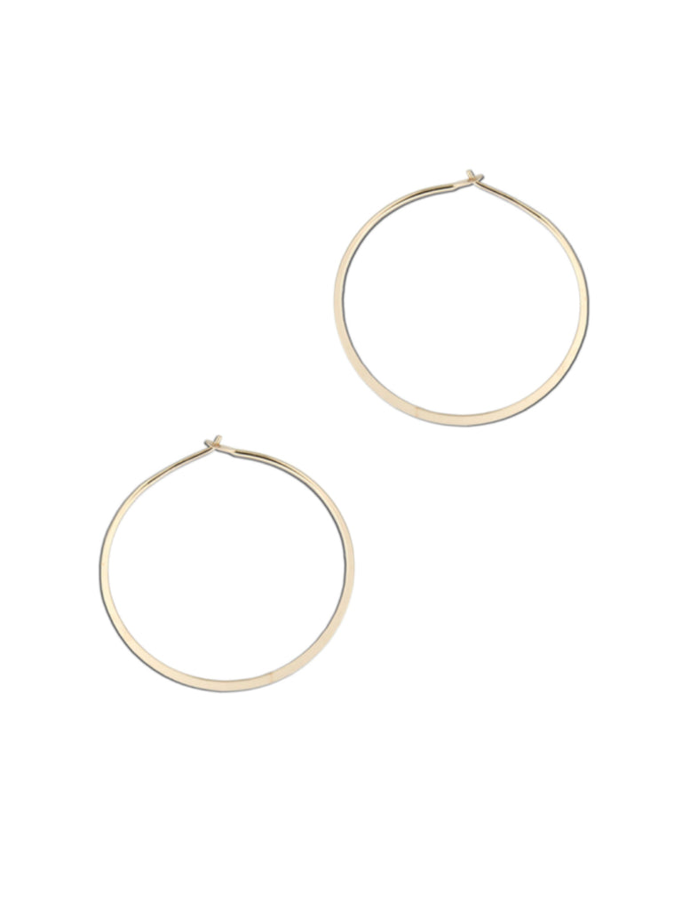 Flat Edge Hoops | 14k Gold Filled Earrings USA | Light Years Jewelry