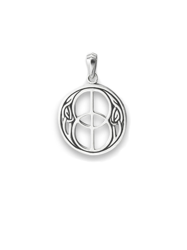 Double Peace Sign Celtic Pendant
