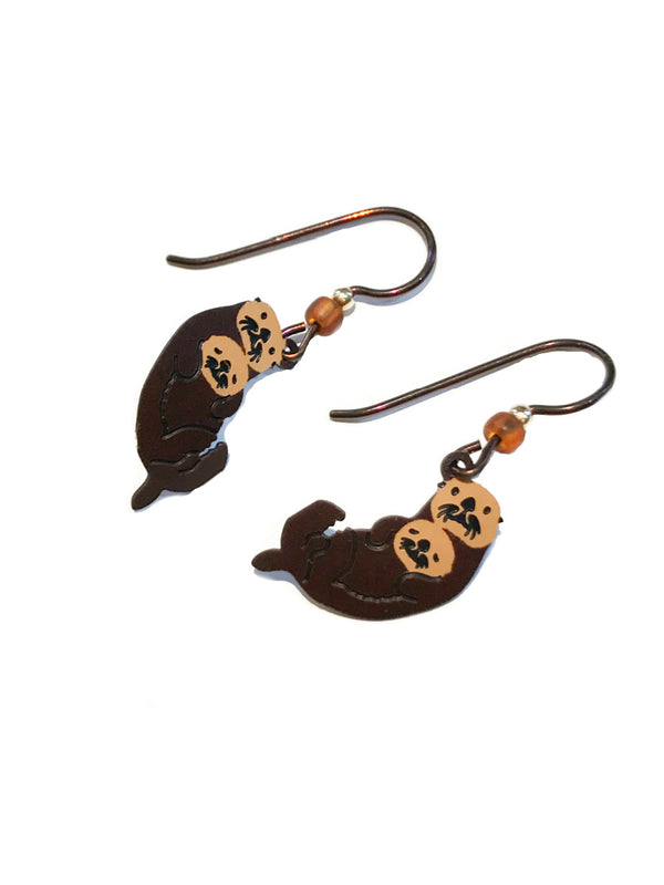 Otter & Cub Dangles by Sienna Sky | Mother's Day Earrings | Light Years