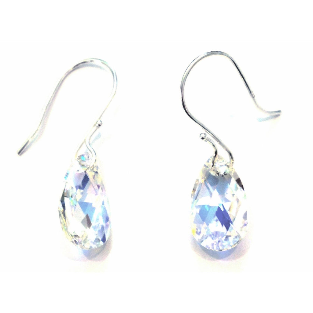 Clear AB Crystal Briolette Drop Earrings, $18 | Sterling Silver | Light Years Jewelry