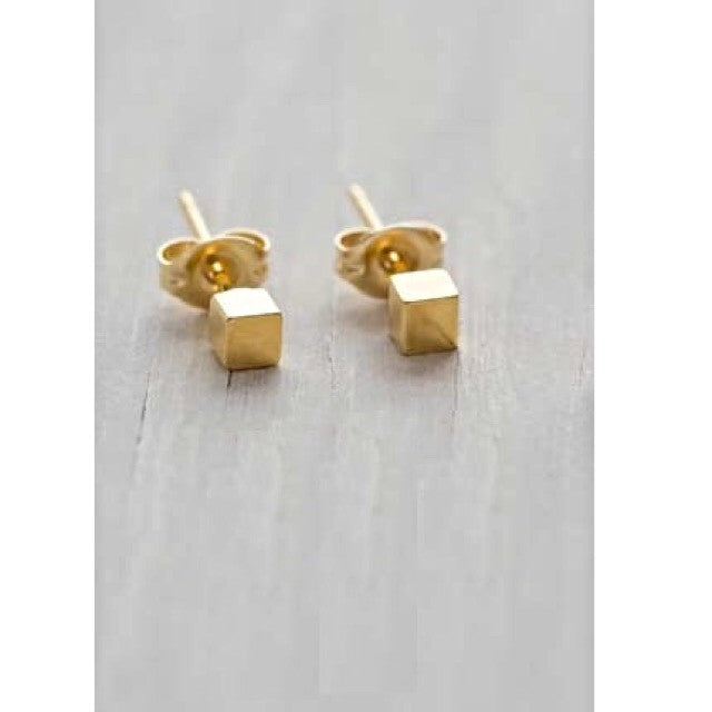 Cube Posts by Amano, $16-20 | Gold Plated | Light Years Jewelry