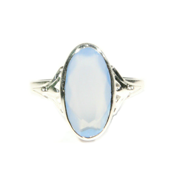 Blue Chalcedony Sterling Silver Ring, $24 | Light Years Jewelry