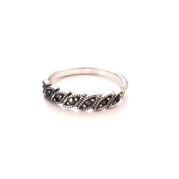 Silver Marcasite Ring | Sterling Silver Size 4 5 6 7 8 | Light Years