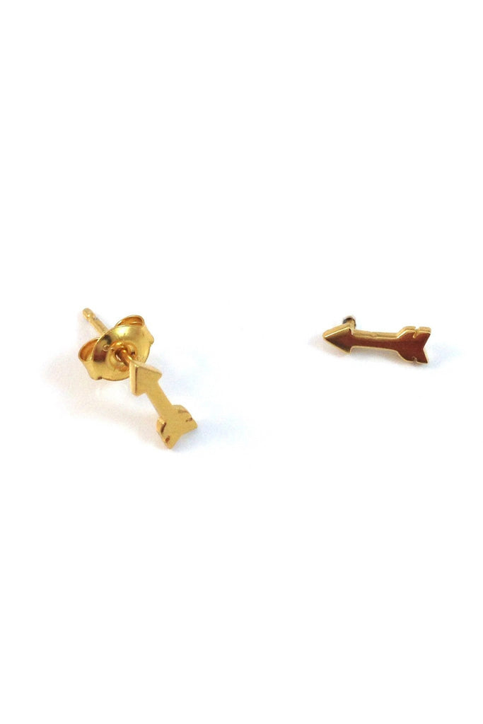 Arrow Post Stud Earrings, $10 | Gold Vermeil | Light Years Jewelry