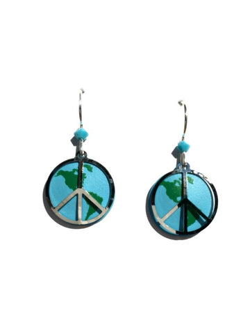 World Peace Earrings by Sienna Sky | Sterling Silver | Light Years
