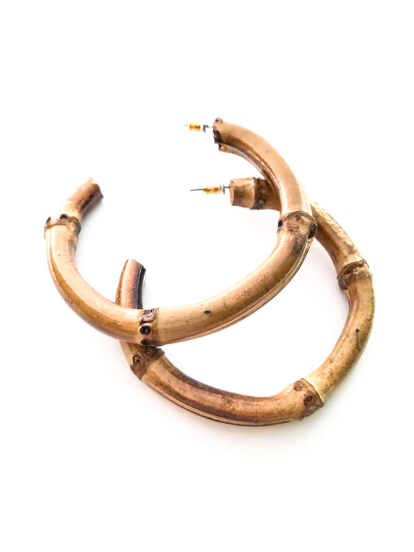 Bamboo Statement Hoops