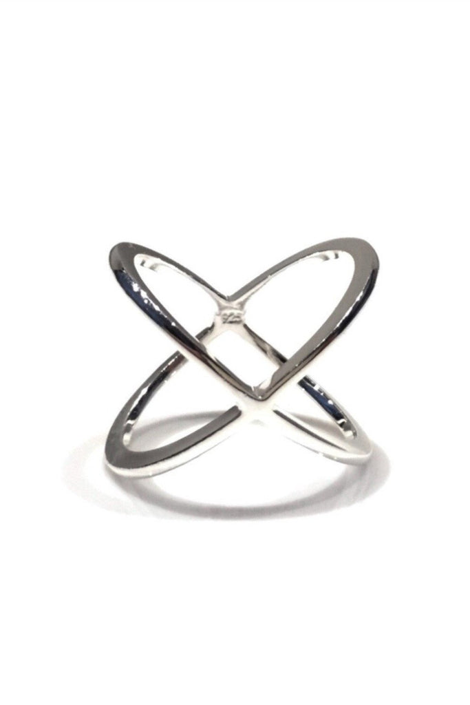 Sterling Silver X Criss Crossed Ring, $18 | Light Years Jewelry