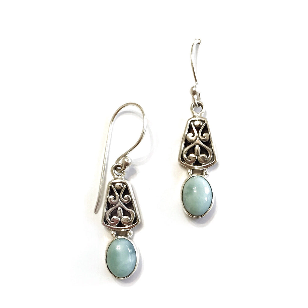 Larimar Dangles, $30 | Sterling Silver Earrings | Light Years Jewelry