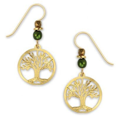 14kt Gold-Filled Tree of Life Earring by Sienna Sky, $14 | Light Years Jewelry