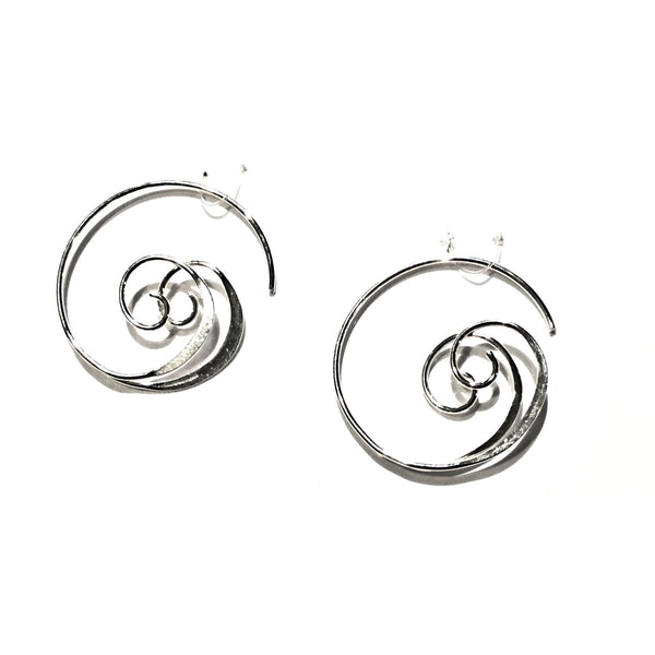 Silver Swirl Hoops, $18 | Sterling Earrings | Light Years Jewelry