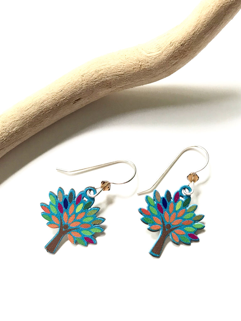 Rainbow Trees by Sienna Sky | Sterling Silver Earrings | Light Years