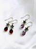 Flower & Gemstone Dangles | Sterling Silver Earrings Bali | Light Years