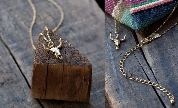 Cow Skull Necklace by Amano, $26 | Light Years Jewelry