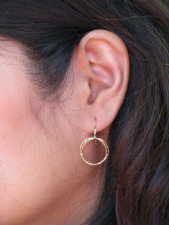 Diamond Cut Delicate Circle Dangles, $18 | Gold Filled | Light Years Jewelry