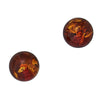 Amber Ball Posts, $13 | Sterling Silver Stud Earrings | Light Years Jewelry