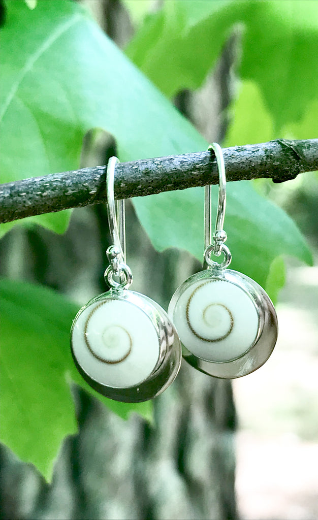 Shiva Shell Dangles | Sterling Silver Earrings | Light Years Jewelry