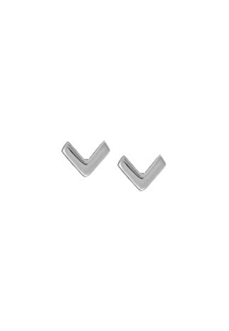Chevron Post, $8 | Stelring Silver Studs | Light Years Jewelry