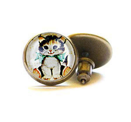 Beijo Brasil Kittens Posts, $14 | Brass Stud Earrings | Light Years Jewelry