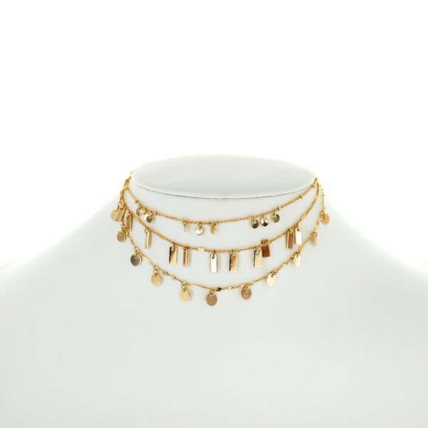 Layered Geometric Choker, $10 | Gold Necklace | Light Years Jewelry